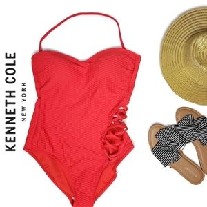 Kenneth Cole NWT small cross cross strap swim suit